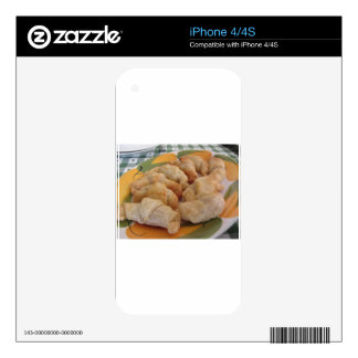 Small homemade salty croissants stuffed iPhone 4S decal