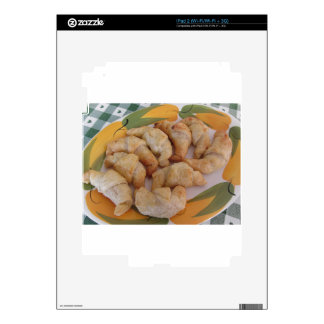 Small homemade salty croissants with sausage decal for iPad 2