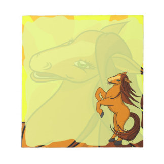 Small Honey Horse Notepad