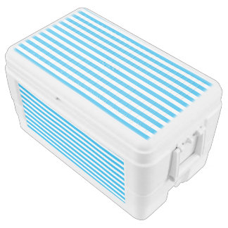 Small Horizontal Blue Stripes Chest Cooler