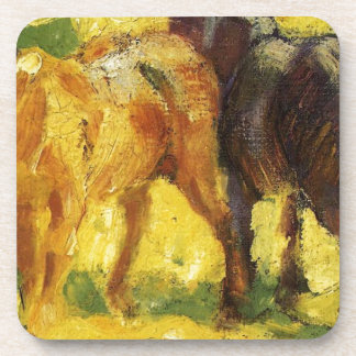 Small Horse Picture by Franz Marc Coaster