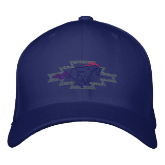 Small Horse Running Embroidered Baseball Hat