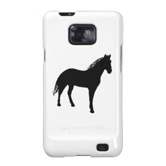 Small Horse Silouette Galaxy SII Cases