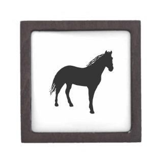 Small Horse Silouette Premium Keepsake Boxes