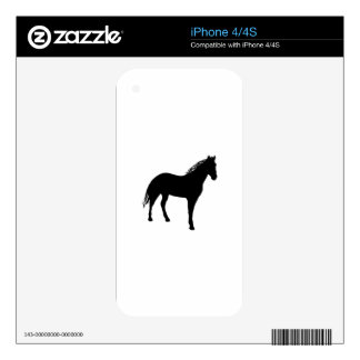 Small Horse Silouette Skin For The iPhone 4S