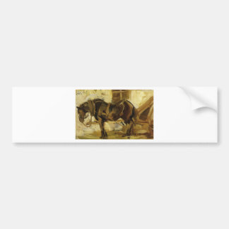 Small Horse Study by Franz Marc Bumper Sticker