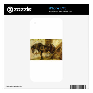 Small Horse Study by Franz Marc iPhone 4 Decal