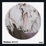 """Small Horse Wall Decal- Watercolor Style, Peach Wall Decal<br><div class=""""desc"""">This the the wall decal version of my watercolor Tenderness. The original watercolor was done in blues and greens using rock salt to make the interesting texture in the background and on the horses coats. This is the pink/peach version. A fantastic gift item for anyone who loves horses. The original...</div>"""