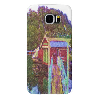 small house and sea Painting photo Samsung Galaxy S6 Case