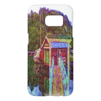 small house and sea Painting photo Samsung Galaxy S7 Case