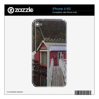 small house and sea iPhone 4 skins