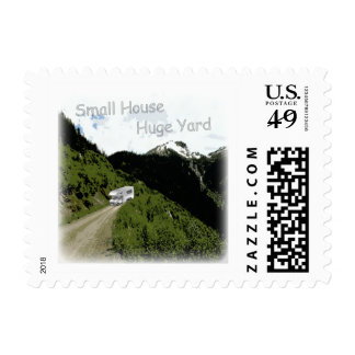 """""""Small House. Huge Yard."""" RV Themed Postage Stamps"""