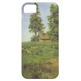 Small hut in a Meadow by Isaac Levitan iPhone 5 Case