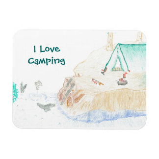 Small I Love Camping Magnet
