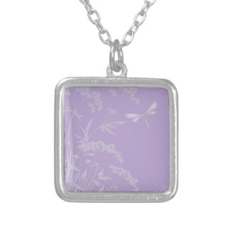 small idyll lilac (I) Silver Plated Necklace