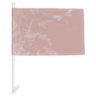 small idyll pink (I) Car Flag