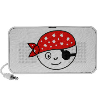 Small impudent pirate travel speaker