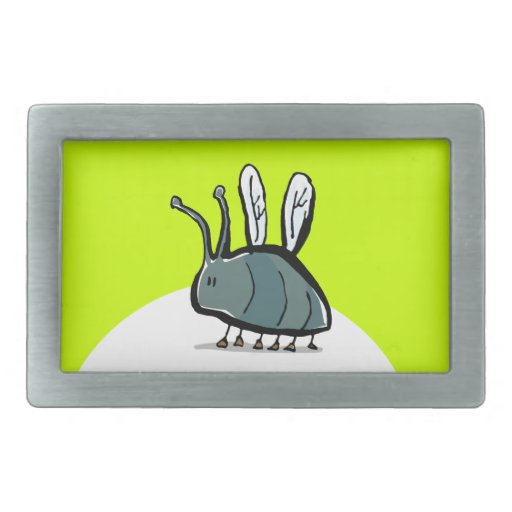 small insect rectangular belt buckle