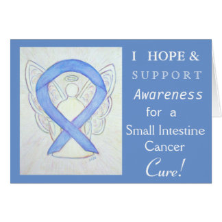 Small Intestine Cancer Awareness Ribbon Card