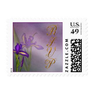 Small Iris RSVP Postage