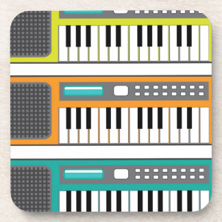 Small Keyboard vector Beverage Coaster