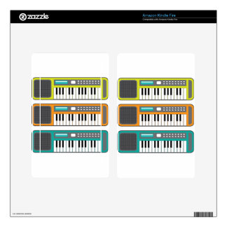 Small Keyboard vector Skins For Kindle Fire