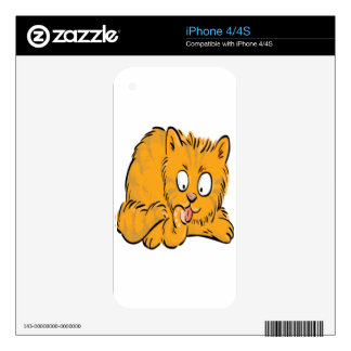 Small kitten licking its tail decal for the iPhone 4S
