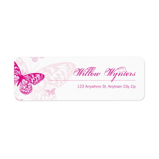 how to write letter small label seals butterflies 1 return address label 46278