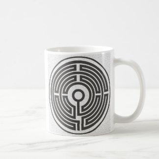 small labyrinth medieval coffee mug