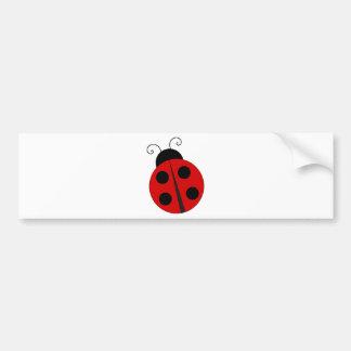 Small ladybird bumper sticker