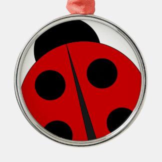 Small ladybird metal ornament