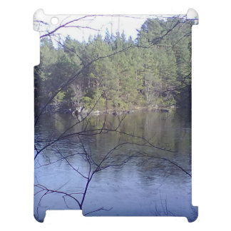Small lake and forest case for the iPad