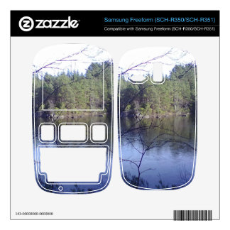 Small lake and trees samsung freeform decals