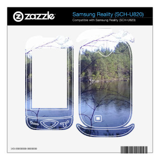 Small lake and trees decal for samsung reality