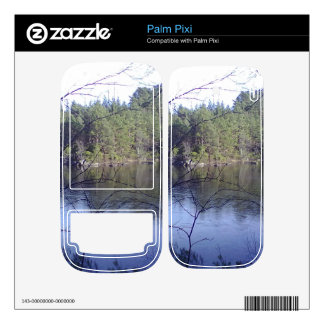 Small lake and trees palm pixi decal