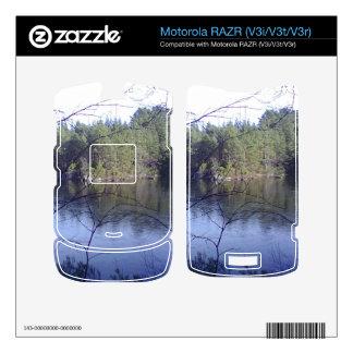 Small lake and trees skins for motorola RAZR