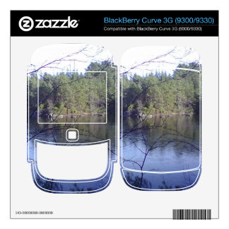 Small lake and trees skins for BlackBerry