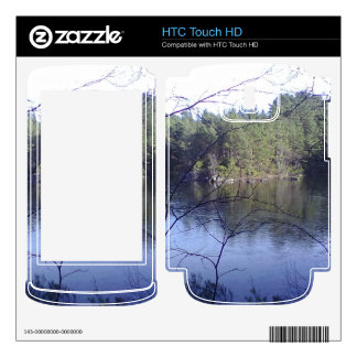 Small lake and trees decal for HTC touch HD