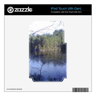 Small lake and trees decals for iPod touch 4G
