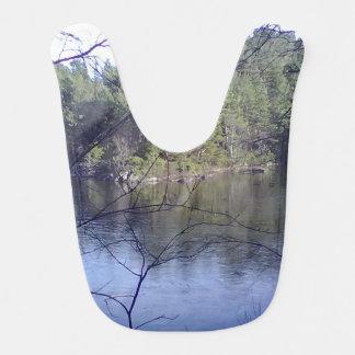 Small Lake with trees Baby Bib