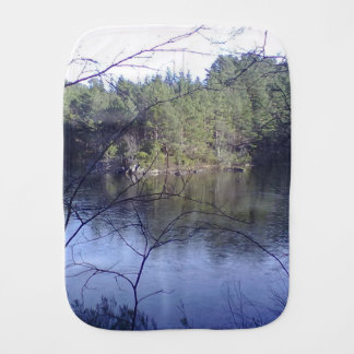 Small Lake with trees Burp Cloth
