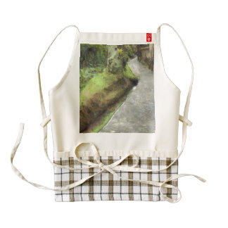 Small lane with greenery next door zazzle HEART apron
