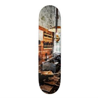 Small Lathe in Machine Shop Skate Board