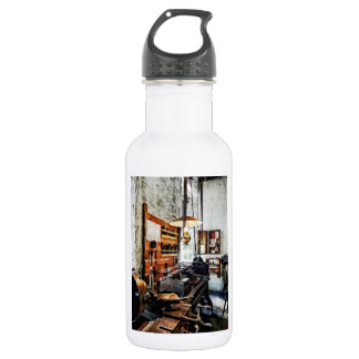 Small Lathe in Machine Shop Stainless Steel Water Bottle