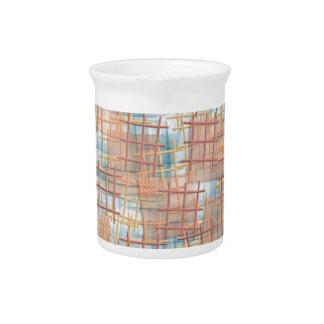 small lattice beige beverage pitchers