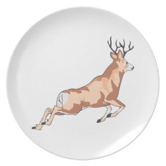 SMALL LEAPING DEER PLATES
