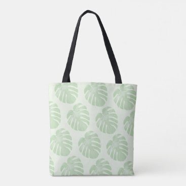 Beach Themed Small Leaves Tropical Tote