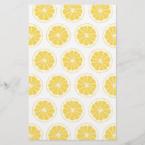 Small Lemon Slices Graphic Pattern