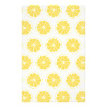 Small Lemon Slices Graphic Pattern Custom Stationery