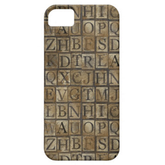 Small Letter press grunge iPhone SE/5/5s Case